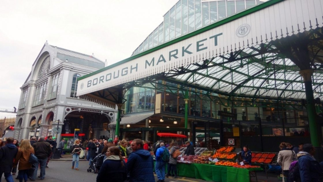 Shoppers at Borough Market in London
