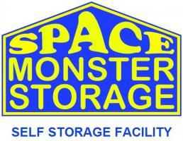 Space Monster Self Storage Logo
