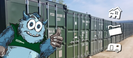 Monster with containers