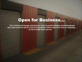 Business and trade storage - we open at 7am!